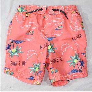 Carters 4T swimming trunks Hawaii aloha